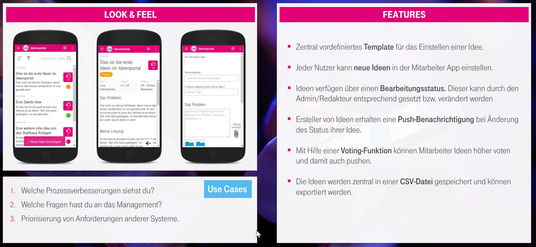 Ideation Plugin Mitarbeiter-App