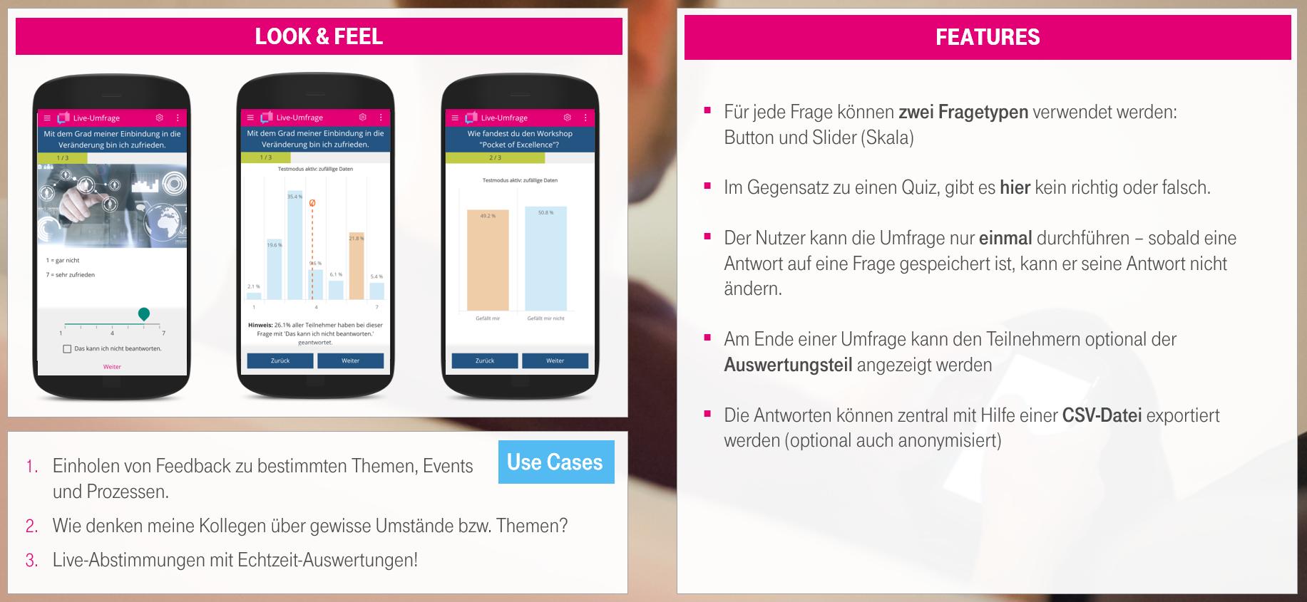 Umfrage Plugin Mitarbeiter-App