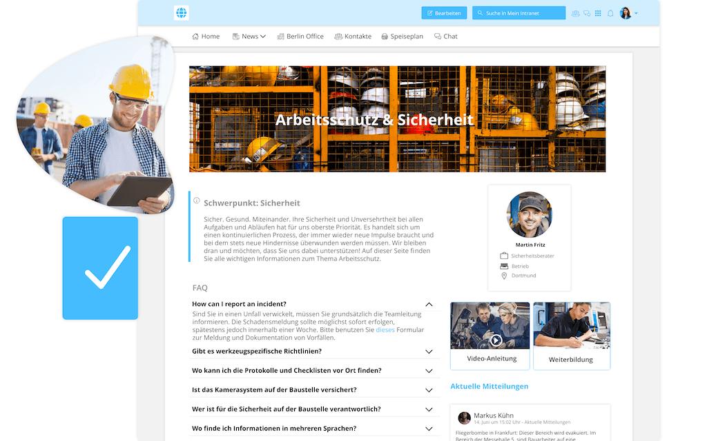 Arbeitsschutz und Sicherheit Seite