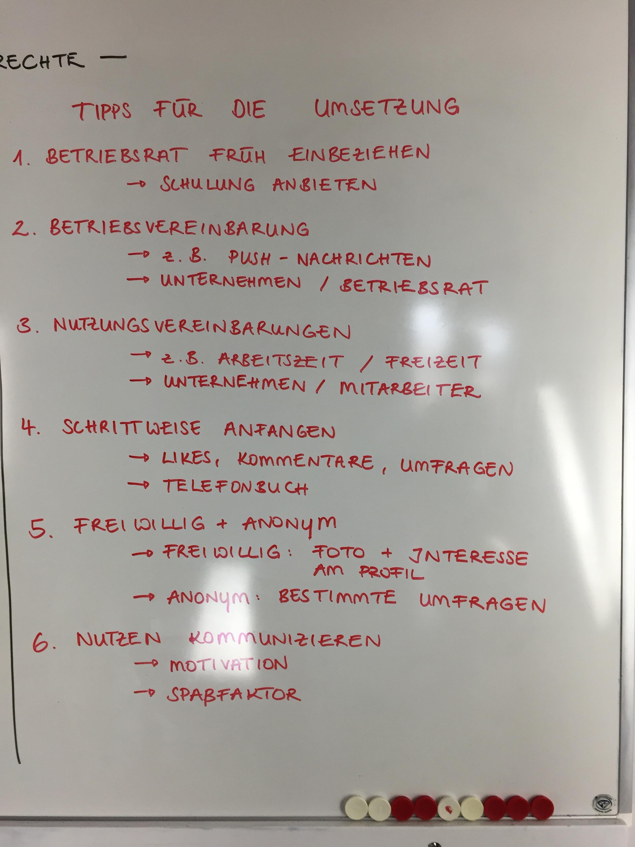 Betriebsrat_Tipps für die Umsetzung