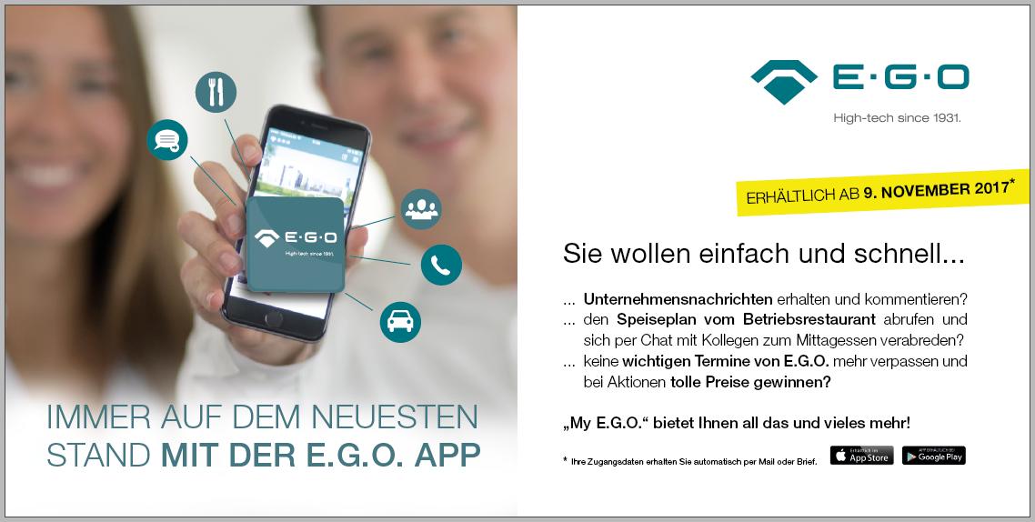 Launch Flyer Mitarbeiter-App E.G.O.