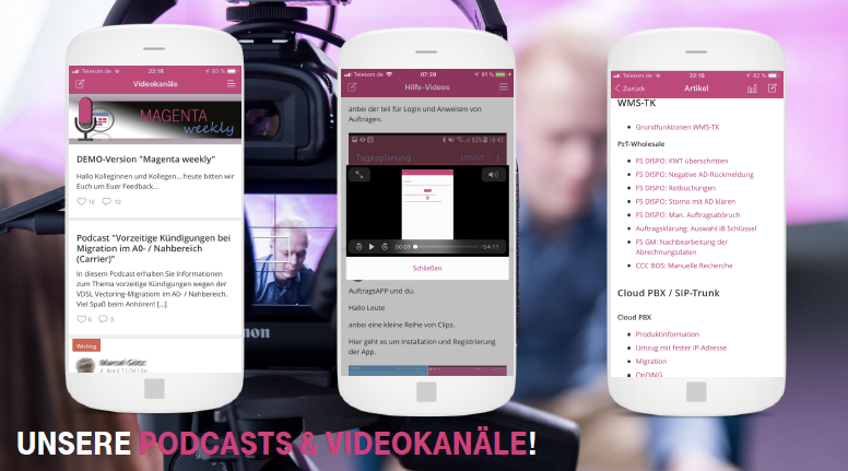 Podcasts und Videos in der Telekom App