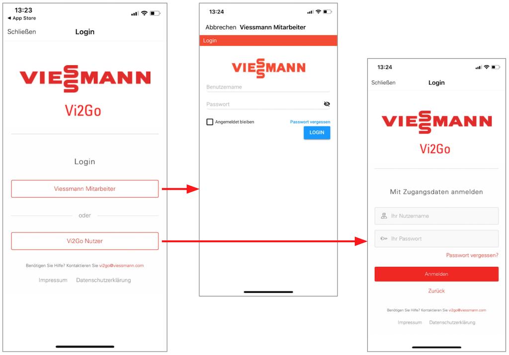 Hybrides Login für eine Mitarbeiter-App