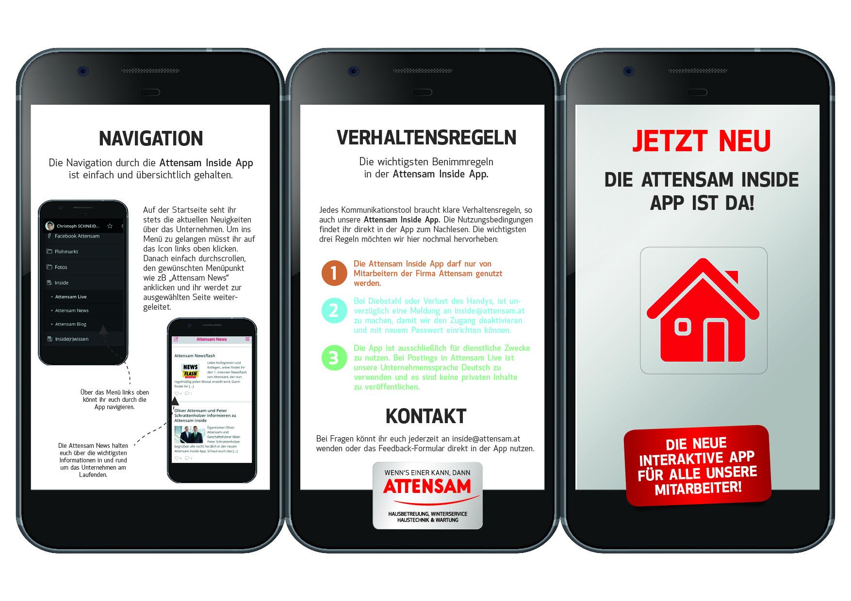 Mitarbeiter-App Attensam, Onboarding