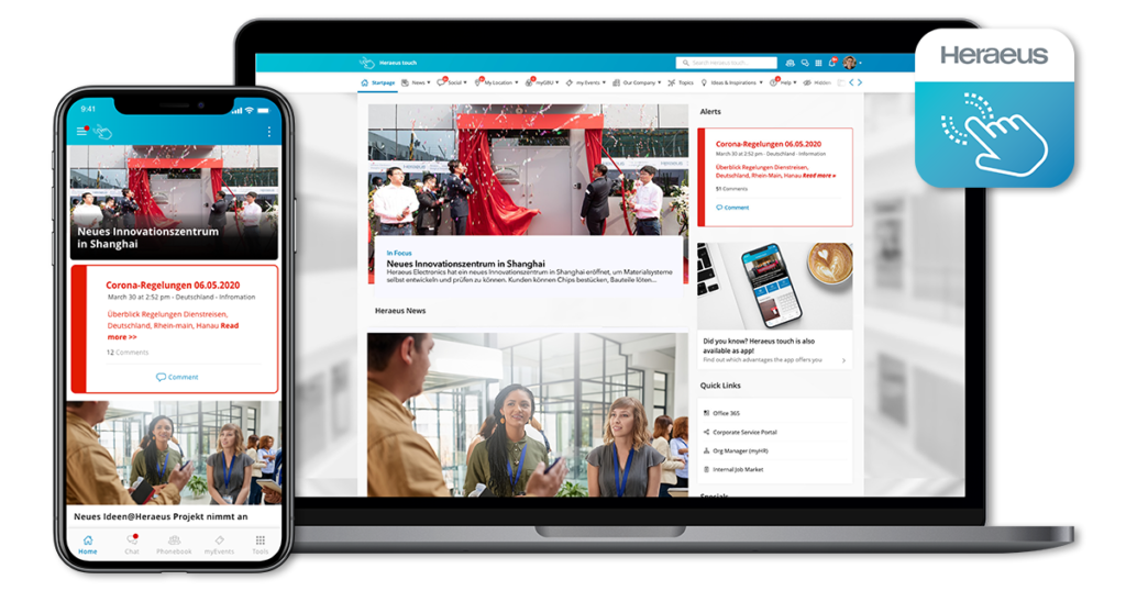 Mobile First Intranet Heraeus Touch Staffbase