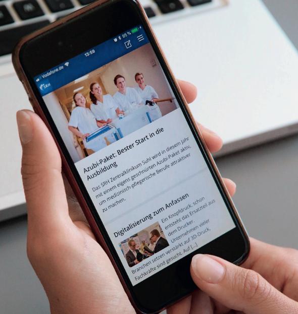 SRH Mitarbeiter-App fürs Gesundheitswesen