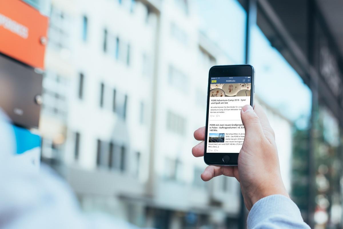 Porr Mobile Mitarbeiter-App