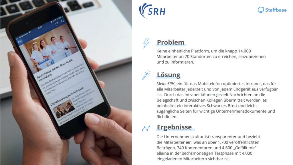 SRH Zusammenfassung Mitarbeiterapp Staffbase