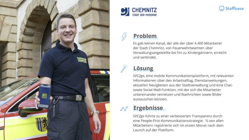 Stadt Chemnitz Zusammenfassung Mitarbeiterapp Staffbase