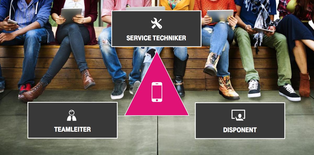 Das magische Dreieck: Die Mitarbeiter-App der Telekom