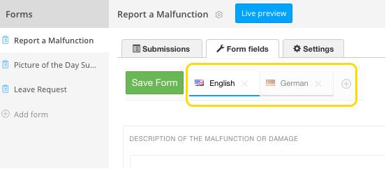 forms multilingual
