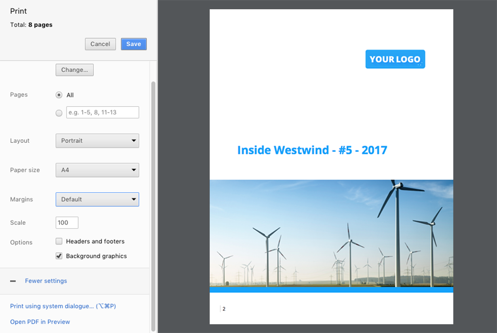 Print-on-Demand lässt Sie aus Ihren Unternehmensnachrichten ein PDF erzeugen