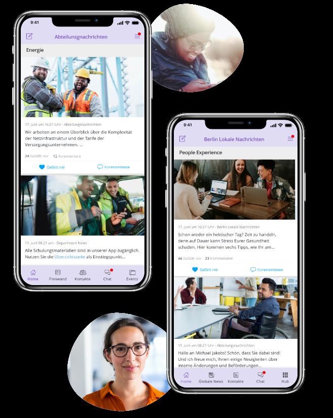 Eine digitale Version der Mitarbeiterzeitung in Form einer Mitarbeiter-App