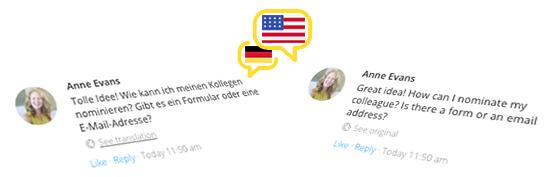 On-Demand-Übersetzung von Kommentaren