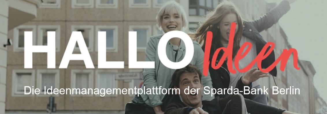 HALLO Ideen, die Ideenplattform der Sparda-Bank Berlin