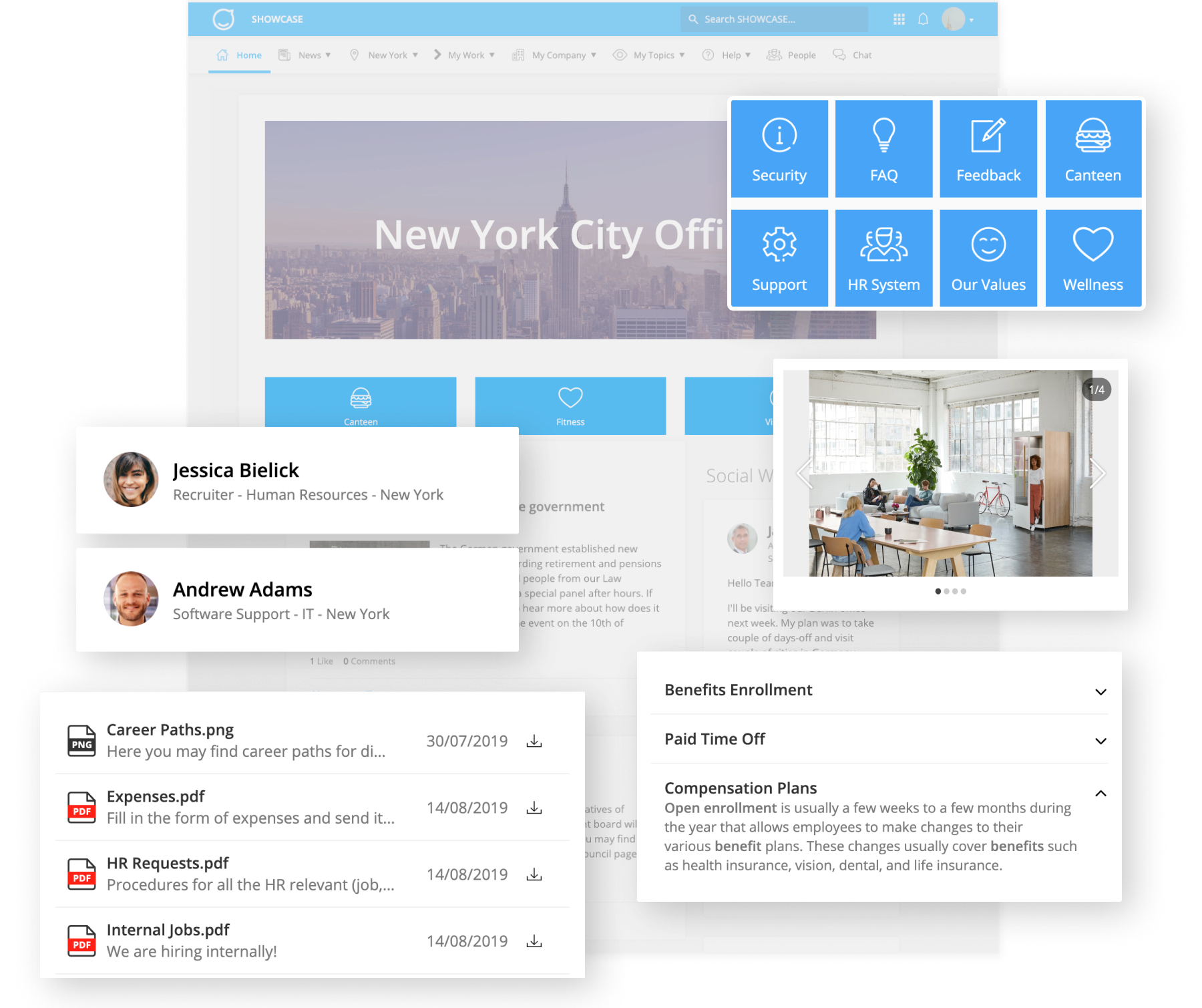 Employee Experience Suite Dynamic Pages