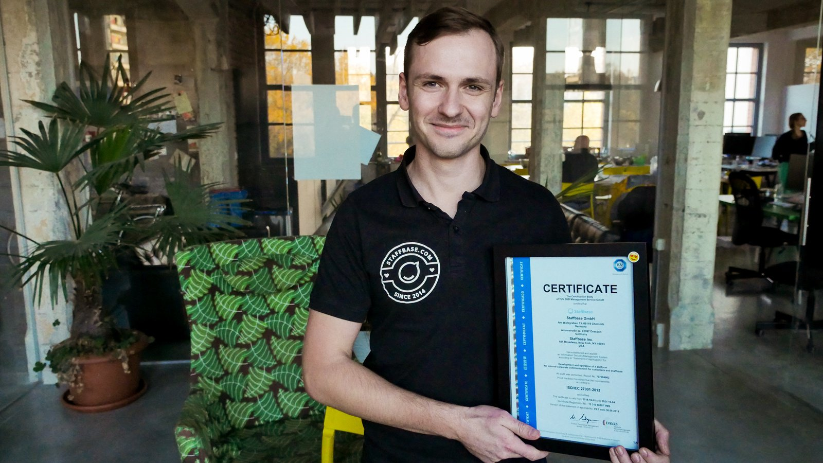 Staffbase Receives Certification for Information Security