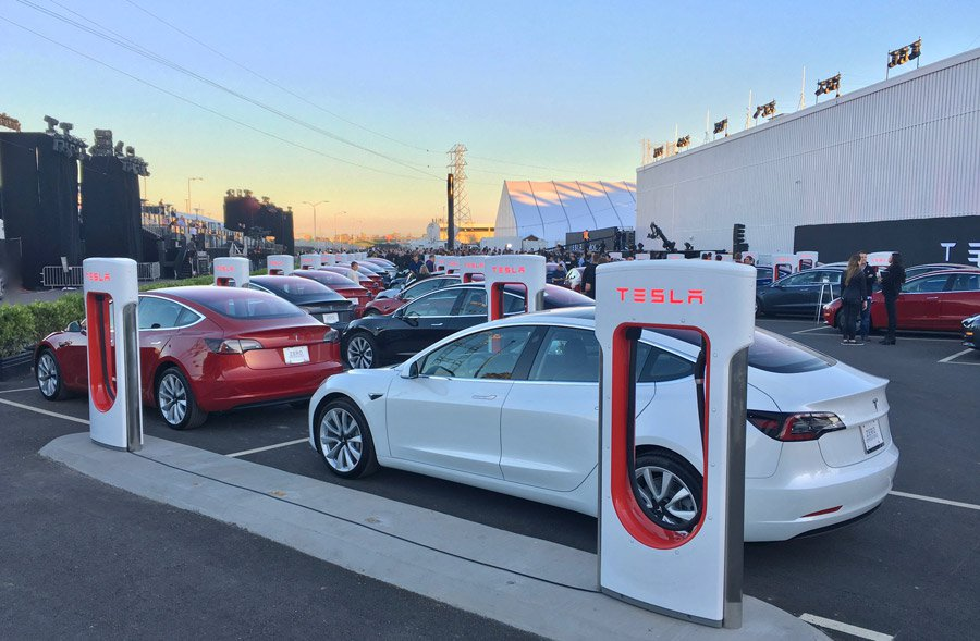Tesla Cars Ready to Roll Off the Lot