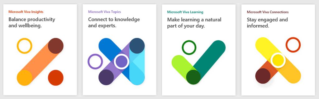 The 4 Microsoft Viva applications