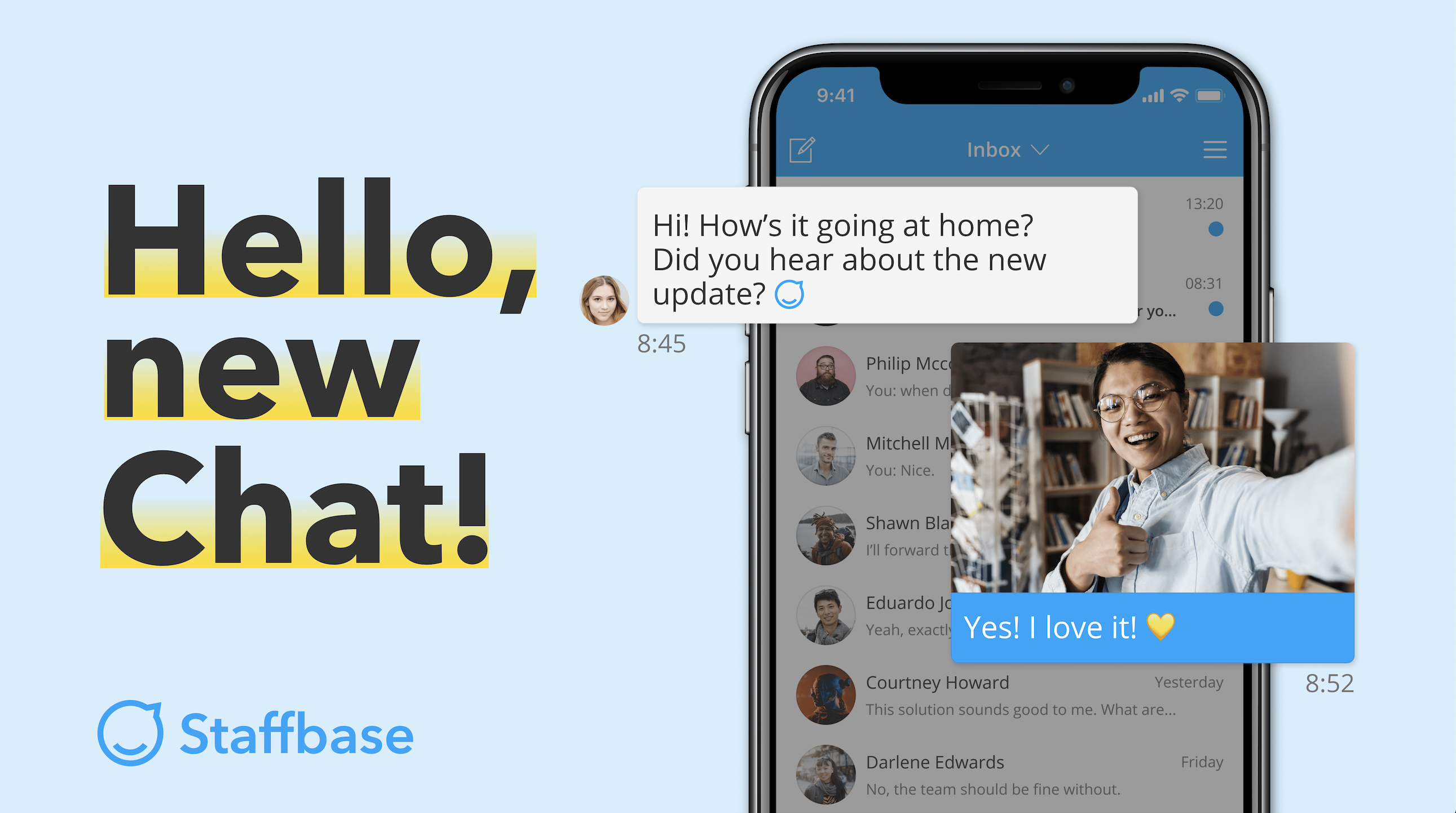 Release 4.3 New Staffbase Chat