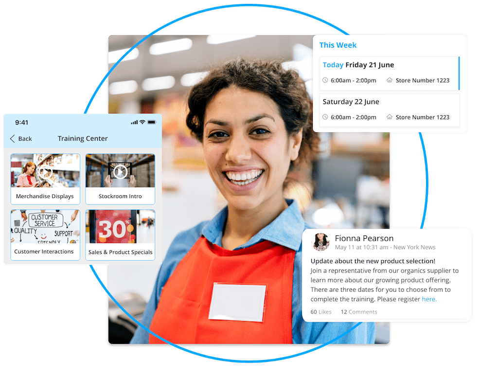 Training, shift planning, a targeted news feed. Your employee app can meet all kinds of retail challenges.