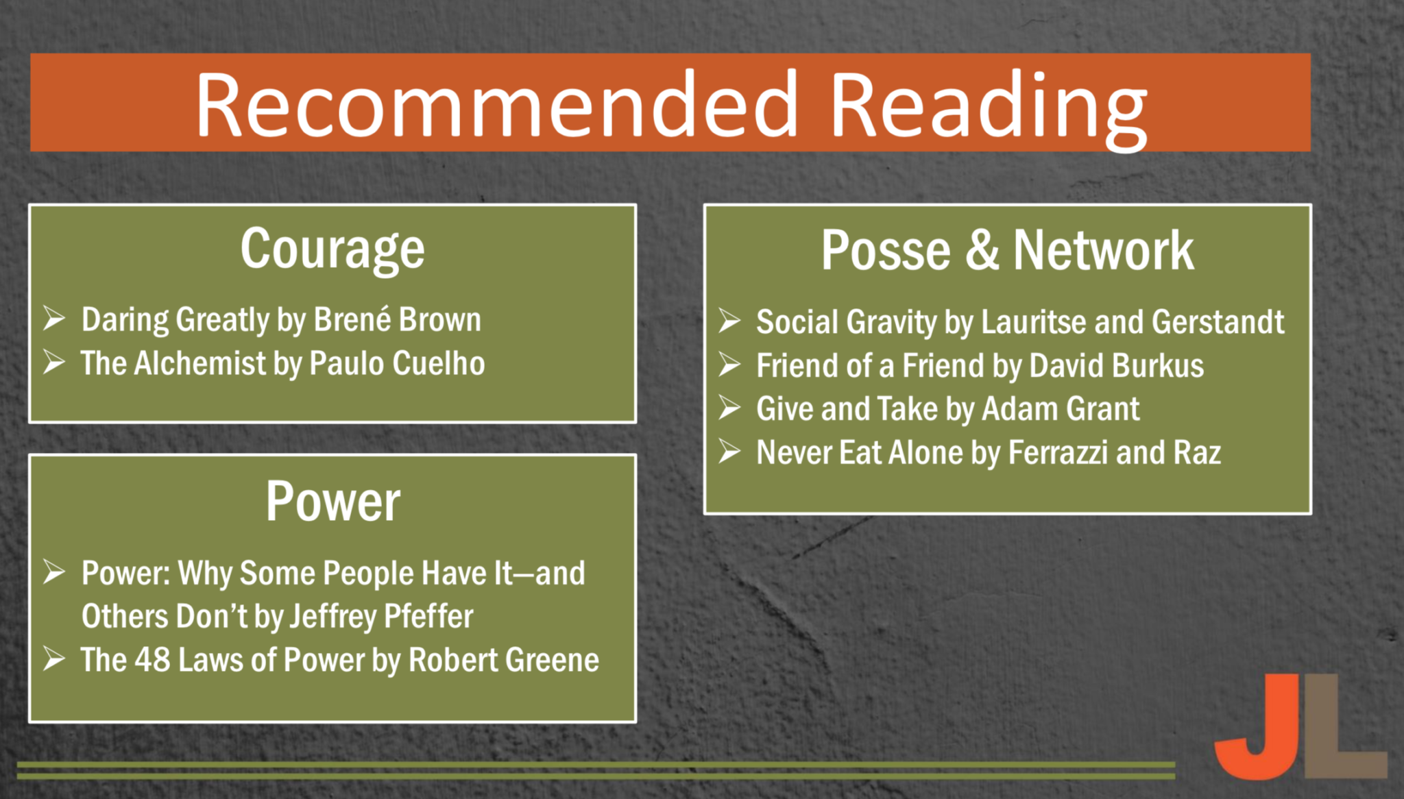 Jason Lauritsen Reading List