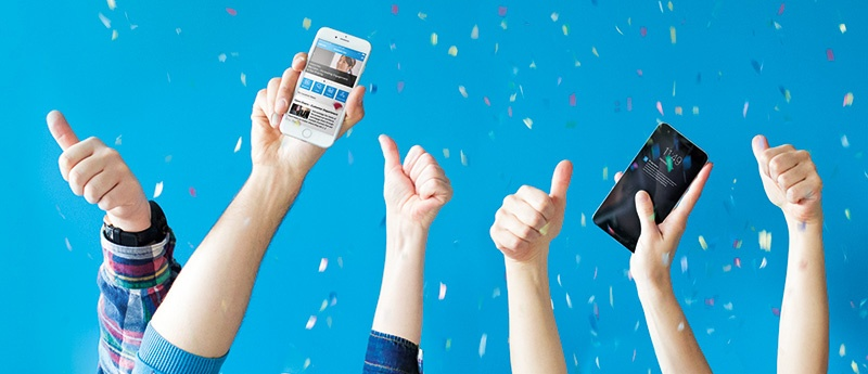 staffbase employee app celebrate confetti