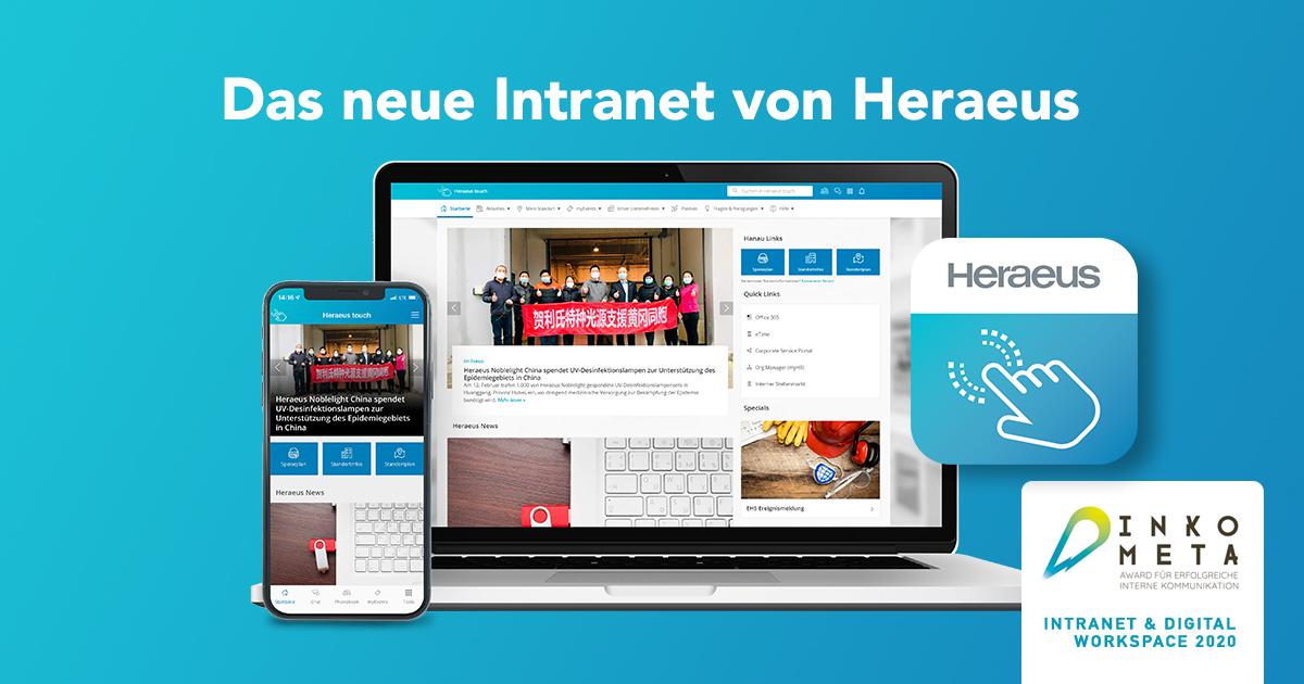 Staffbase Intranet Von Heraeus Gewinnt Inkometa Award Bestes Mobiles Intranet Kategorie Intranet & Digital Workspace