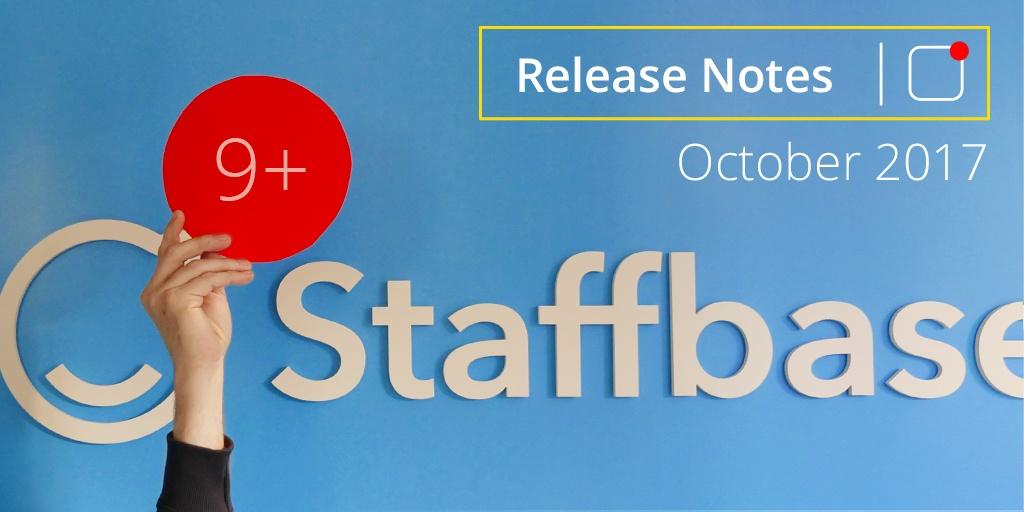 Staffbase Release Notes October 2017
