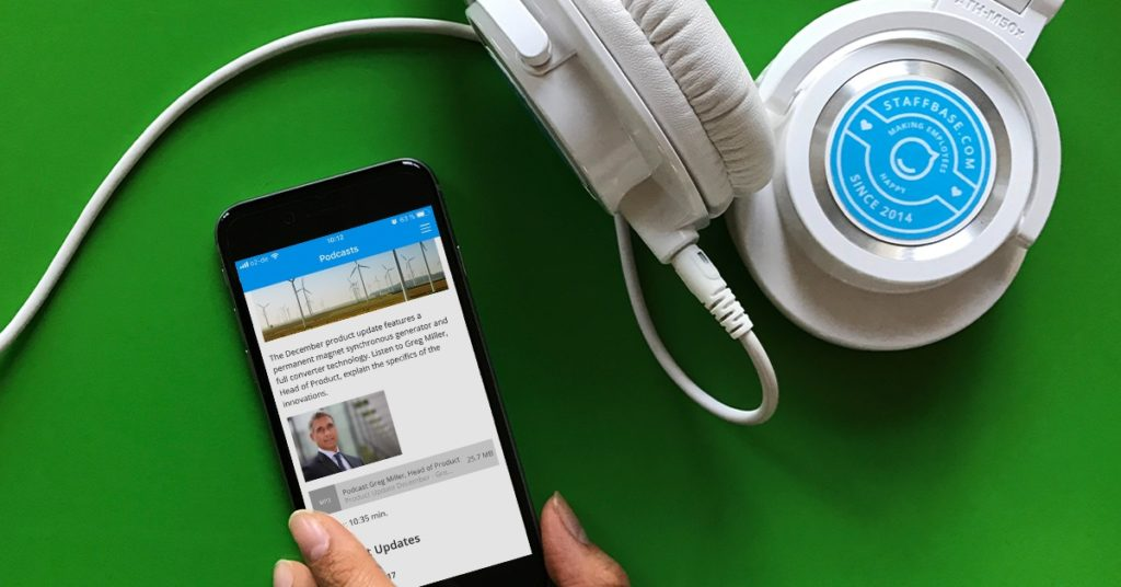 Podcasts are a great way to provide important content to employees on the go.