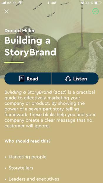 The Blinkist App: Listening Feature
