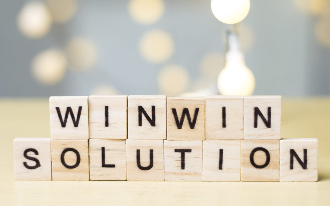 Win Win Solution Words Concept