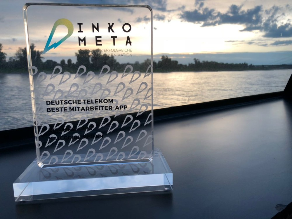 The Inkometa Award for Best Employee App goes to Deutsche Telekom