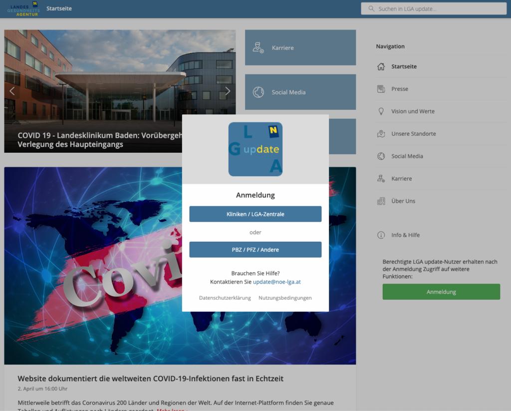 LGA Update intranet page